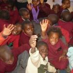 Schulklasse in Namibia